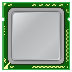 Modern Computer Processor On A White Background.